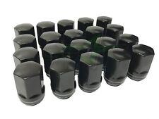 9/16-18 BLACK DODGE OEM LUG NUTS 20 RAM 1500 DURANGO DAKOTA RAIDER FACTORY LUGS