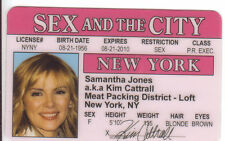 Kim Cattrall Sex and the City plastic collector card Drivers License Meat Packin