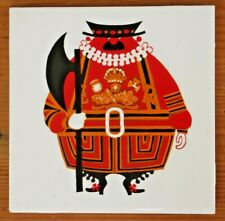 More details for rare 1960s 70s kenneth townsend london series beefeater tile cork backed vgc