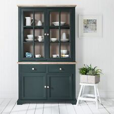 Florence Display Cabinet Bottle Green Glass Door Dresser Quality Fully Assemb