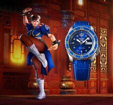 Seiko 5 Sports Street Fighter V Chun-Li Blue Jade Limited Edition Watch SRPF17K1