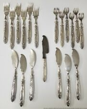 Rare Boulenger 19pc Art Nouveau Silver Plated Luncheon Cheese Set