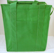 INSULATED REUSABLE GROCERY BAG - LIME GREEN - Recyclable Thermal Shopping Tote