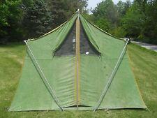 Vintage Canvas Tent with Poles