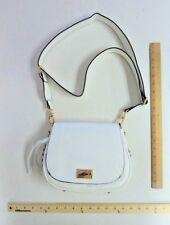 Women's JUICY Couture Purse Hand Bag Tote White Saddle Cross Body Style W/ Studs