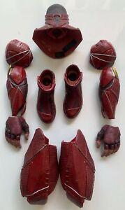 11pcs Hot Toys 1:6 Justice League The Flash Neck Collar Hands Armors Parts
