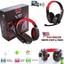 V8 Wireless Bluetooth Gaming Headset With Mic Headphone For Phones Tablet PC