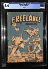 FREELANCE COMICS # V2 # 4 CGC 5.0 1943 WW2 German 1st Annual Canadiana Auction