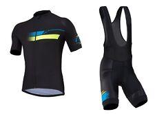 Tenue Vélo / VTT / XC Kenny Maillot + Cuissard Noir / Jaune / Bleu Taille XL