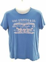 LEVI'S Boys Graphic T-Shirt Top 15-16 Years Blue Cotton  KW03