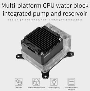 Barrow CPU block integrated pump reservoir for INTEL or AMD - USA Stock