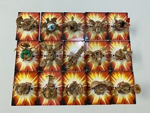 Bakugan Lot Of 15 Subterra Battle Brawlers & 15 Random Regular Cards - RARE