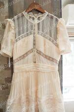 2020 New NWT Authentic Self Portrait Cream Lace Trim Midi Dress
