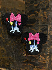 """2 Disney Minnie Mouse Castle Iron On Sew On Patch 2.5"""" L x 2.75"""" W SAME Day"""