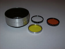 TIFFEN 32.5MM SCREW IN SERIES # 5 LENS SHADE WITH THREE FILTERS & ADAPTER RING