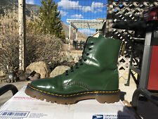 80s Vintage Dr. Martens Solovair Racing Green US 8 Boots 1460 doc shoes 8eye uk7