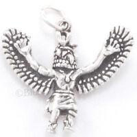 EAGLE DANCER Kachina Charm Pendant Native American Indian 925 STERLING SILVER 3D