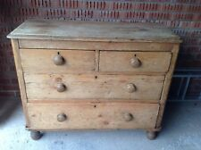 Genuine Rustic Antique Pine Chest Of Drawers