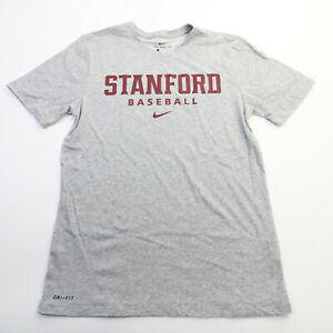 Stanford Cardinal Nike  Short Sleeve Shirt Men's Gray New without Tags
