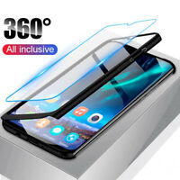 For Samsung A51 A70 A50 A40 A30 20 10 S 360°Protection Case Cover+Tempered Glass
