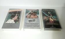 Star Wars Trilogy Ultra Rare CBS/FOX VHS Home Video Cassette Tape Collection