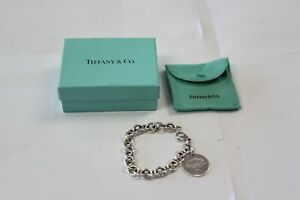 Tiffany & Co. Sterling Silver Return To Tiffany Round Tag Bracelet 7.5""