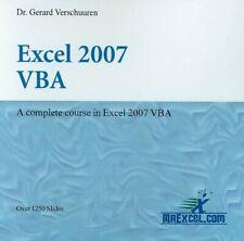 Excel 2007 VBA (Visual Training) - New Book Dr. Gerard Verschuuren