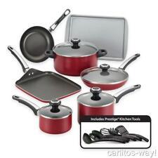 Farberware High Performance Nonstick Aluminum 17-Piece Cookware Set RED New