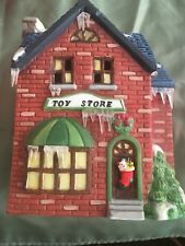 Americana Porcelain Snow & Icicles Light Up Christmas Collectible Toy Store 1990
