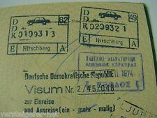 Reisepass BRD Nürnberg 1972, Visa CSSR, DDR,Türkei,Portgal,GB, GR, VW-Bulli 1968