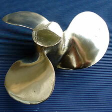 Sculpture Création Hélice Bateau Mercury Bronze Doré Plein 24 x 11 Cm -2,920 Kgs