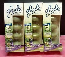 3 x Glade Scented Oil Candles  4 Refills Bayberry Spice packages (12 total)