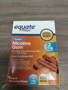 Equate Nicotine Gum  Cinnamon Flavor 2mg 100 Pieces Exp 2023