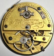 CYLINDER ESCAPEM DROZ BROTHERS POCKET WATCH MOVEMENT JEWELLED SPARES/REPAIR#WA23