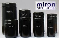 Miron violettglas weithalsdosen Mironglas diverses tailles de 100 à 1000 ml
