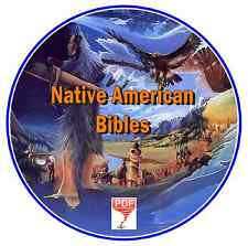 54 Native American Indian Bibles +12 'Celebrated American Indians' Books  on CD
