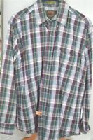 Boston Traders Plaid Flannel Medium 15 15 1/2 Men's SHIRT
