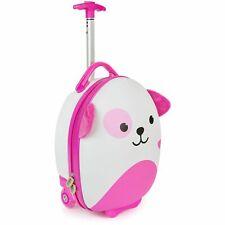 boppi Kids Cabin Bag Childrens Roller Luggage Kids Travel Cases Pink Dog NEW