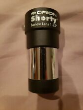 """New listing Orion 08711 Shorty 2x Barlow 1.25"""" Lens Black Single/ Instructions/Msrp$39.9"""