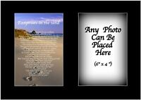 Footprints In The Sand Personalised with ANY PHOTO Birthday Christmas Gift