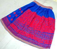 Gypsy Boho Embroidery India Kuchi Banjara Tribal Rabari Ethnic Belly Dance Skirt