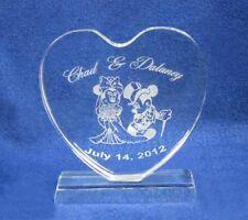 Crystal Minnie Mickey Wedding Cake Topper Engraved Free *