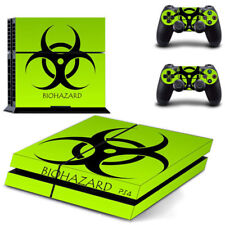 Bio-Hazard Green Skin Vinyl Sticker for the PlayStation 4 Console PS4