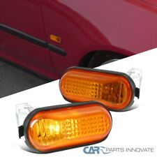 For 92-95 Honda Civic JDM Dome Amber Fender Side Markers Lights Signal Lamps