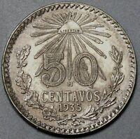 1935 Mexico 50 Centavos XF Silver Coin (20021502R)