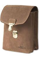 Woodland® Gürteltasche / Universaltasche aus feinem Büffelleder in Dunkelbraun