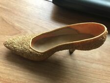 Brand New Just The Right Shoe Golden Stiletto 1999 Raine Willets Designs Retired