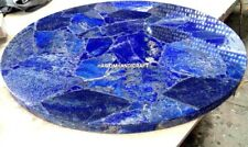 Lapis Lazuli Inlay Stone Marble Coffee Table Top Art Handicraft Home Decor H4752