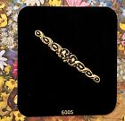 Sarah Coventry Brooch,Bar Pin, Antique Gold,Victorian,New on Card,Signed NOS G30