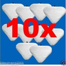 10x white washable Pads Floor Steam Mop Pad String MicroFiber H2O X5 Vax 01A